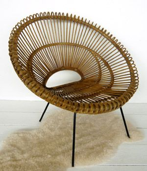 lovely decor objects tab vintage 1950 39 s round woven sun chair fauteuil soleil en rotin. Black Bedroom Furniture Sets. Home Design Ideas