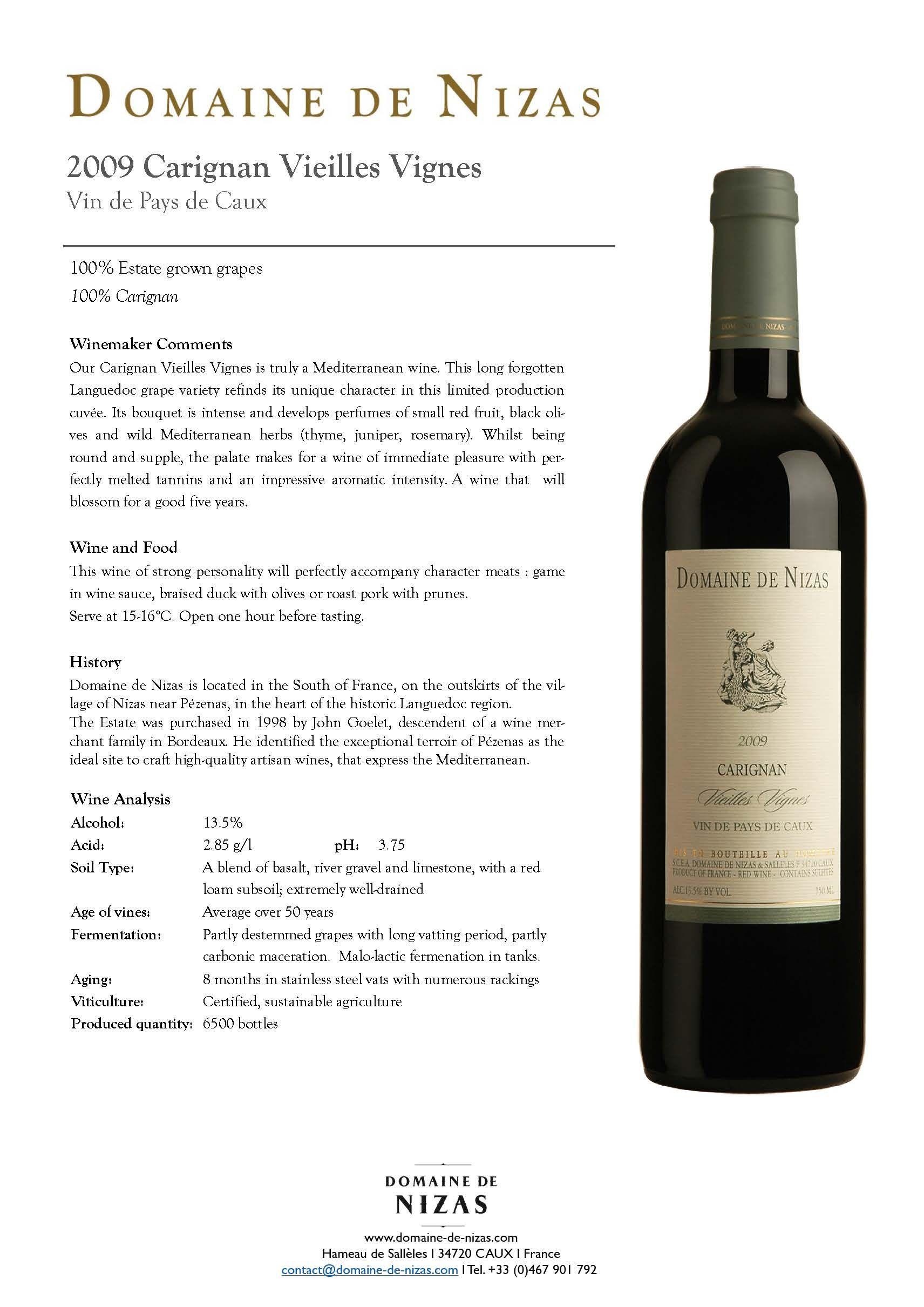 Vindepays Caux Igp Languedoc Tasting Wine Vin Red Rouge Carignan Vieilles Vignes Vin Bouteille De Vin Petit Fruit Rouge