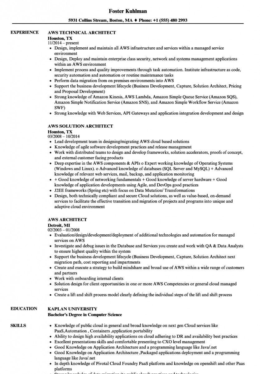 10 Aws Primary Resume Proposal Surat Marketing