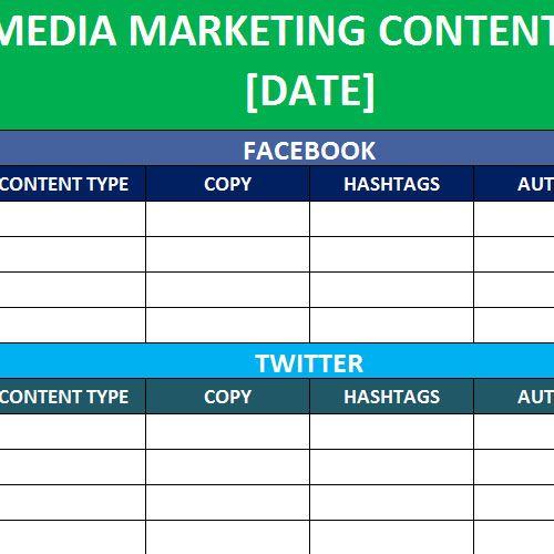 Social Media Calender Template Excel 2014 Calender Template