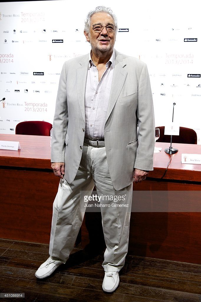 Placido Domingo attends 'A Mi Espana' presentation at Teatro Real on June 23, 2014 in Madrid, Spain.