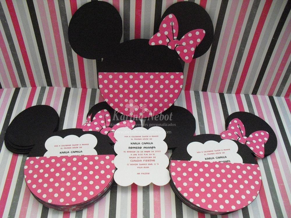 Invitaciones De Cumpleaños De Minnie Para Descargar Gratis