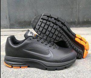 0998d6734487 Mens Nike Air Pegasus 29 Leather Black Orange Running Shoes