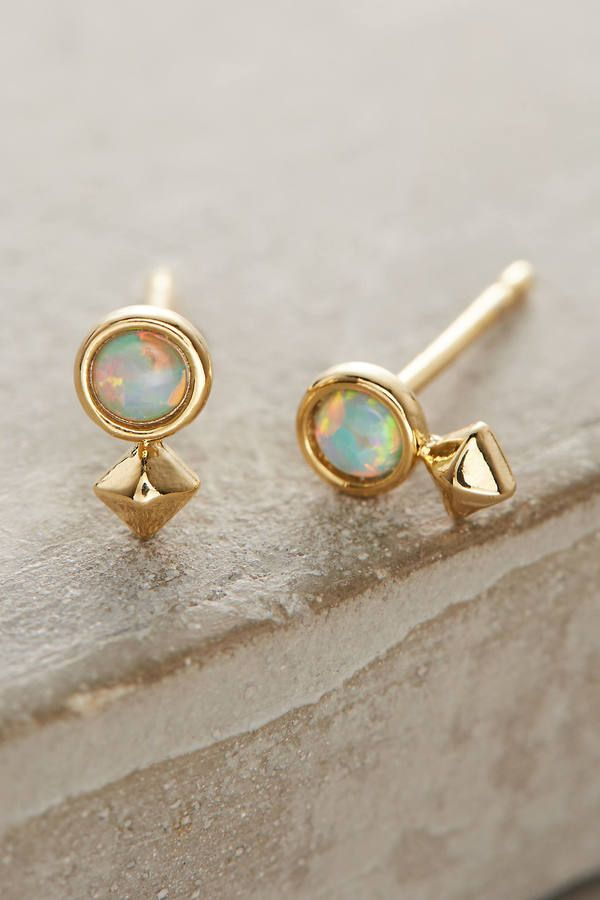 Anthropologie Opalescent Posts Earrings. Unique and fun women jewelry accessories.