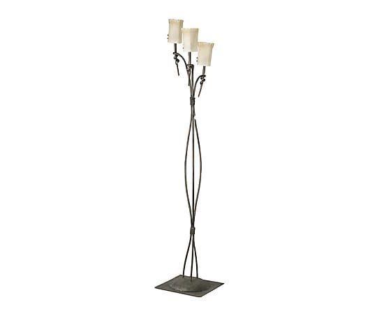 L mpara de pie de hierro torino crema y xido proyecto - Iluminacion de pie ...