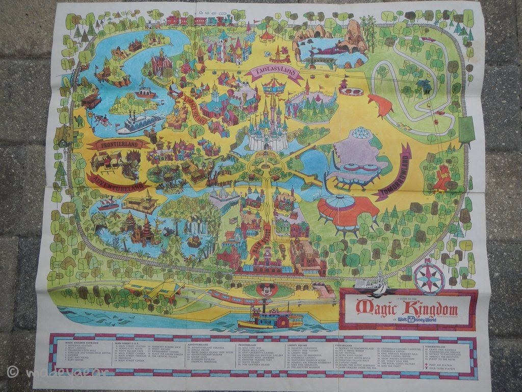 Rare Original 1971 Walt Disney World Disney Magic Kingdom Park Guide