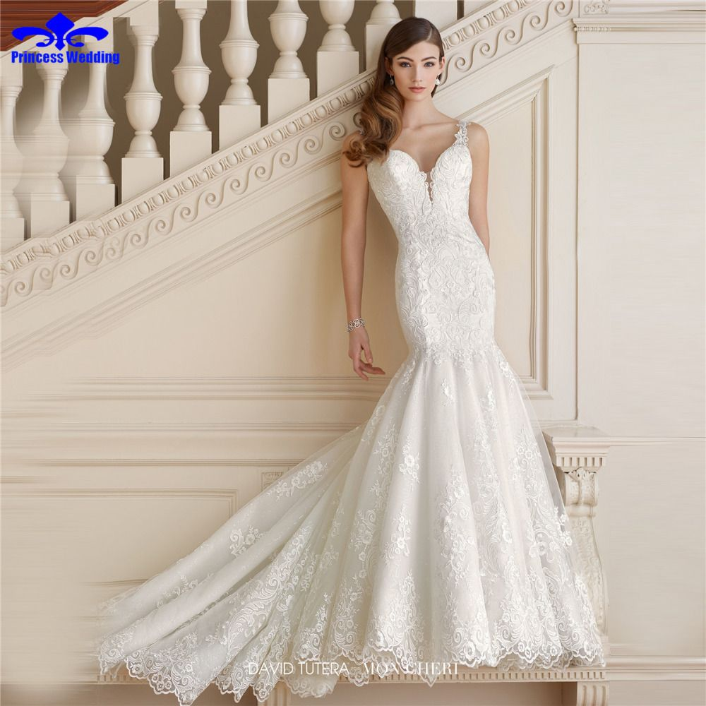 New design delicate appliques beaded robe de mariage princess