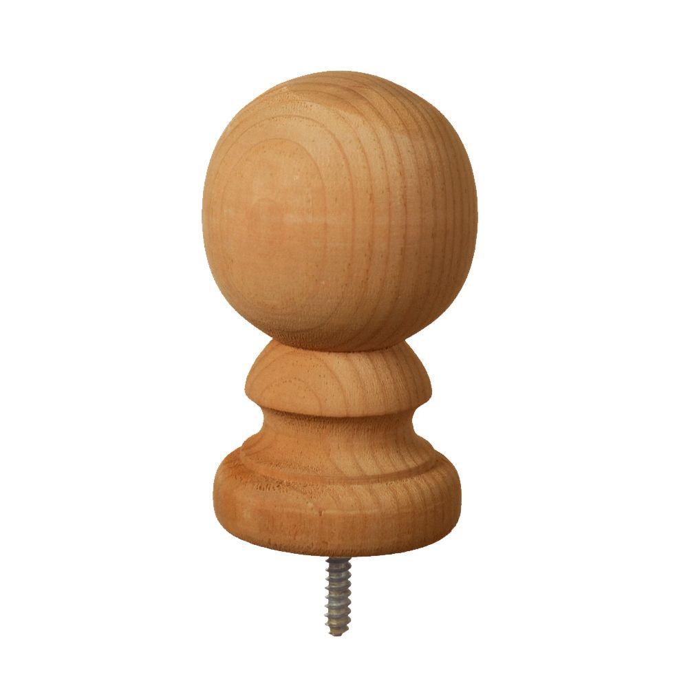 Weathershield 4 In X 4 In Pressure Treated Southern Pine Finial Ball Top Cedar Tone Post Cap 163220 The Home Depot Finials Wood Post Pressure Treated Wood