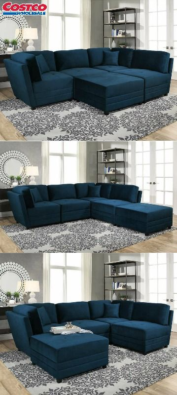 Excellent Leyla 5 Piece Fabric Modular Sectional Sectional Living Theyellowbook Wood Chair Design Ideas Theyellowbookinfo