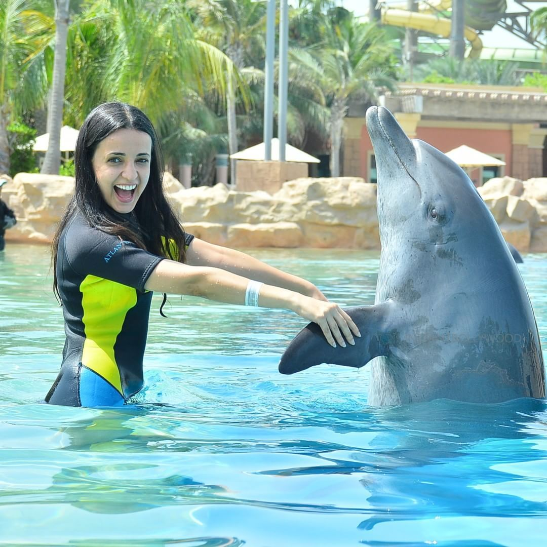 Super cute sanaya irani playing with a dolphin celebrities super cute sanaya irani playing with a dolphin thecheapjerseys Choice Image