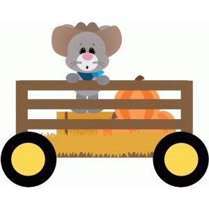 Silhouette Design Store: mouse in wagon hayride | Free Svg invites ...