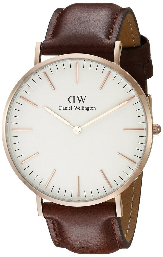 5de0f32104c8 Daniel Wellington Men s 0106DW St. Mawes Stainless Steel Watch with Brown  Band