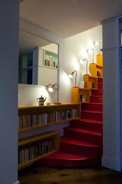 escalier en biblioth que staircase library escaliers pinterest escaliers couloir et. Black Bedroom Furniture Sets. Home Design Ideas