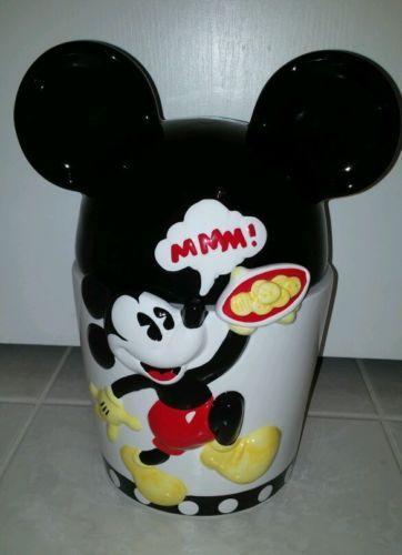 Disney Cookie Jars 1968 Now For Sale Ebay >> Mickey Mouse Unlimited Danawares Ears Mmm Disney Cookie Jar Iob