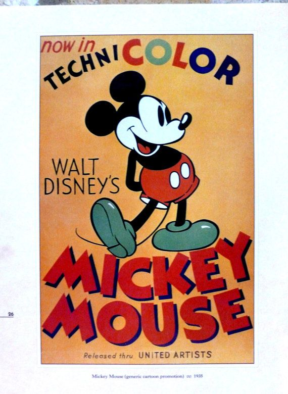 Hey, I found this really awesome Etsy listing at https://www.etsy.com/listing/211764753/walt-disney-poster-micky-mouse-in