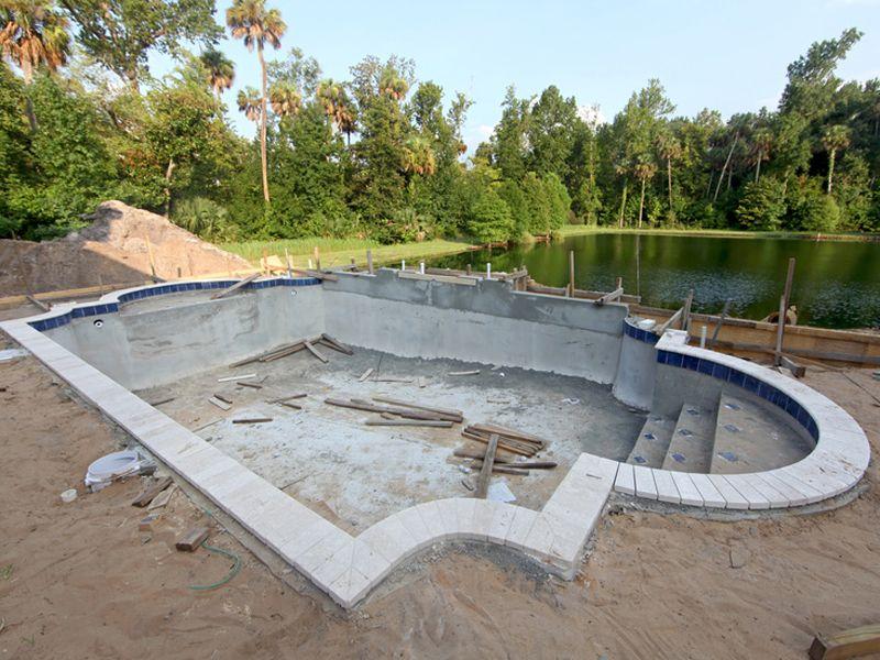 Pool Im Garten Bauen #betonblockgarten