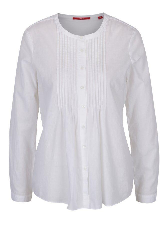 Bílá dámská košile s žebrovanými detaily s.Oliver   blúzky   Pinterest 8992d8e13a