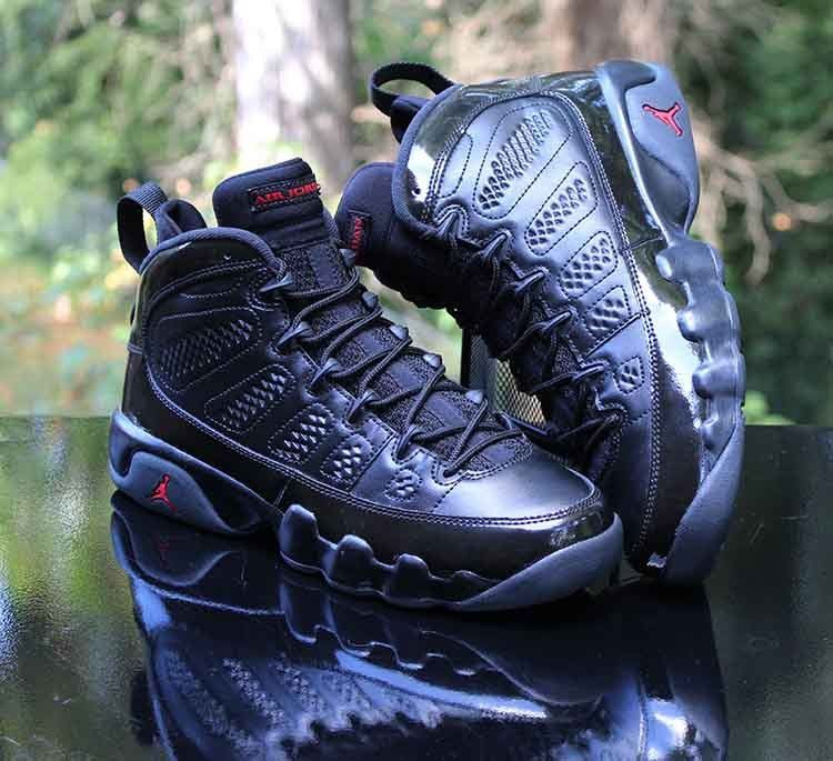 sale retailer 16a4c 766c4 Nike Air Jordan 9 IX Retro Bred Patents 302359-014 Black Size 7Y WMNS 8.5   Nike  BasketballShoes