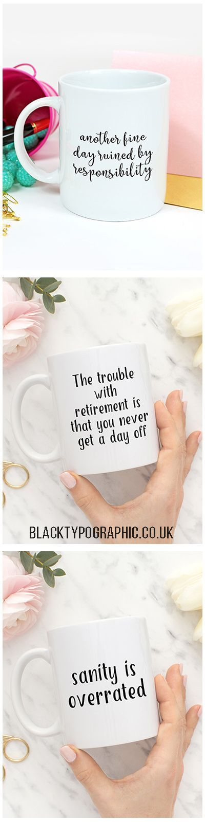 Throw away those mismatched mugs and buy a collection of black and white ones.  That way they'll always match no matter where you get them from. Smash one, replace it with another cute black and white one.  Coffee mugs for her, funny mugs for coffee, coff