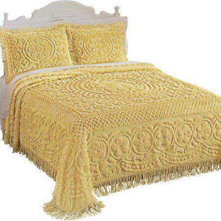Home With Images Bed Spreads Chenille Bedspread Yellow Bedspread