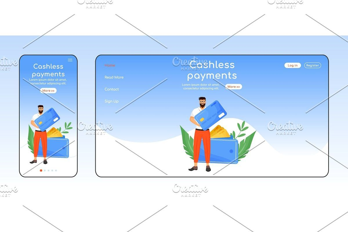 Cashless payments landing page in 2020 landing page