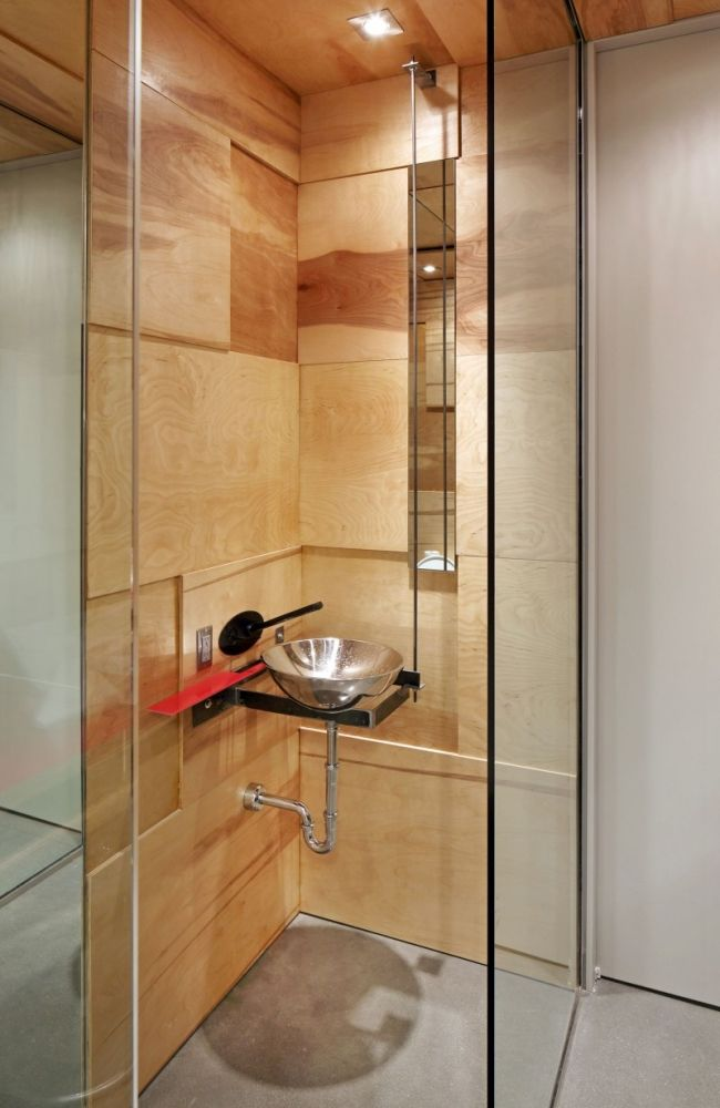 badezimmer design moderne metall waschtisch holz fliesen optik - badezimmer design fliesen