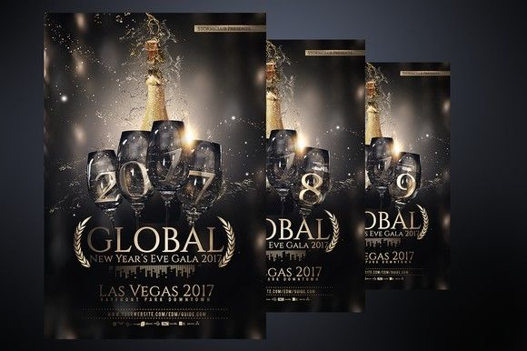 NYE New Years Eve Flyer V2 Flyer Templates Pinterest Nye - new year brochure template