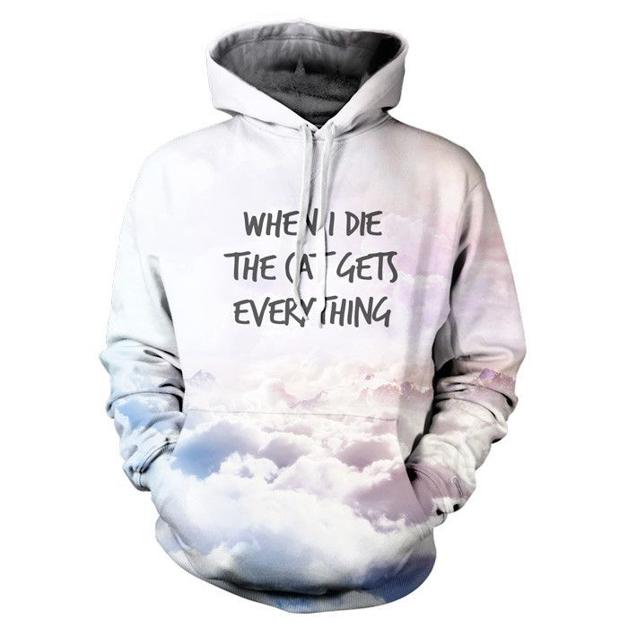 Pastel When I Die Cat Hoodie - hey people, check out our new PASTEL COLLECTION @ yoprnt.com #pastel #cat #hoodie #yoprnt