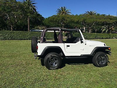 Ebay 2000 Jeep Wrangler X Jeep Wrangler Tj 2 Door White Jeep