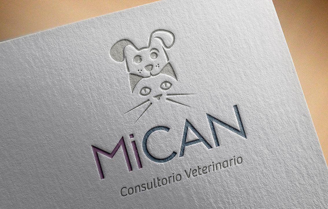 MICAN logotipo veterinario. Línea papel   Pinterest   Logotipos ...