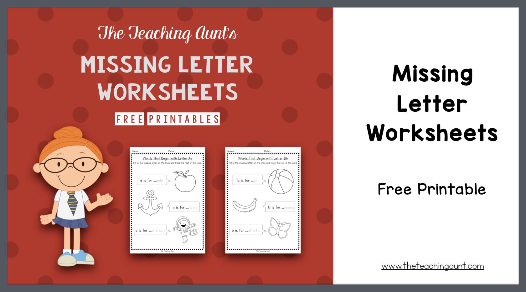 Missing Beginning Letter Worksheets