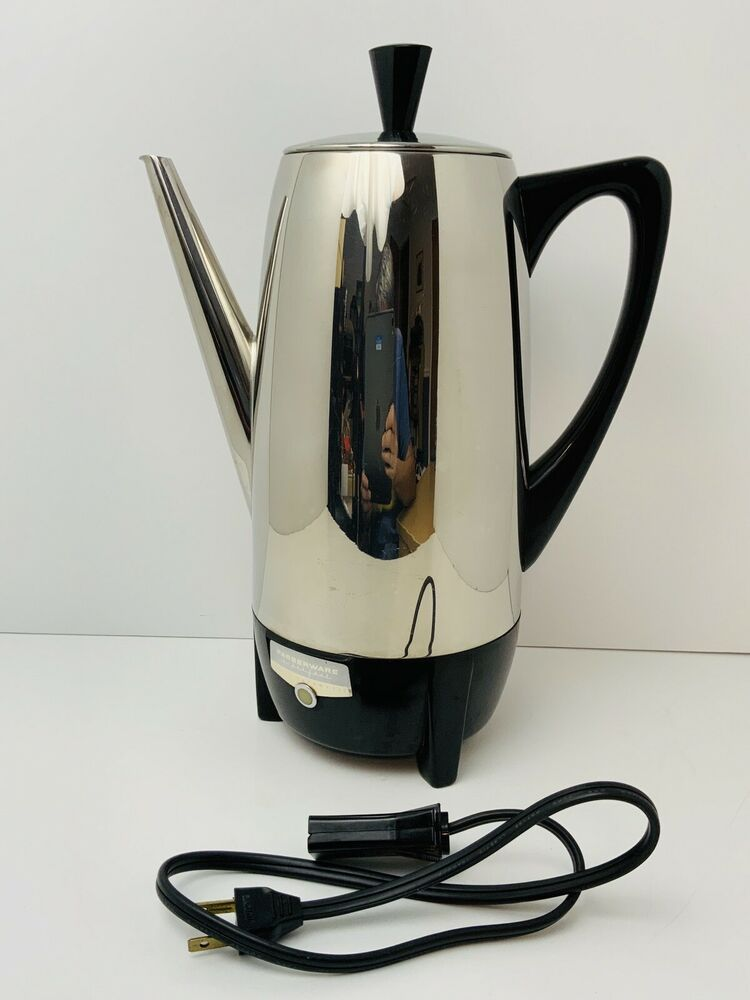 Vintage Mcm Faberware Superfast Percolator Fully Stainless 2 12 Cup 122 Electric Farberware Farberware Percolator Vintage Cookware