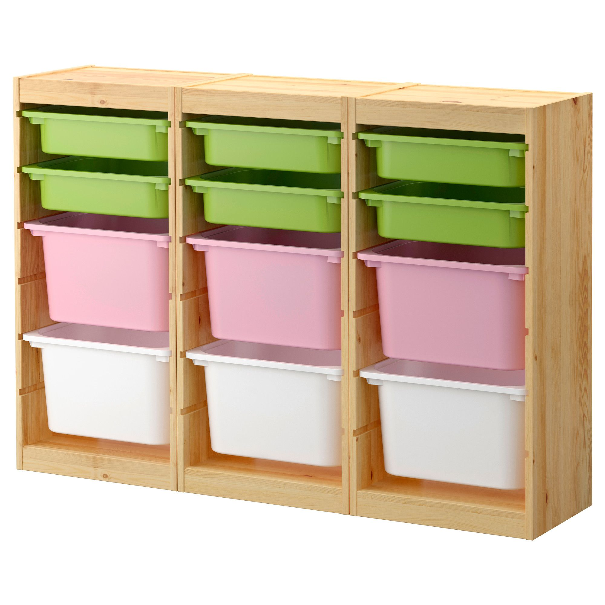 Playroom closet trofast storage combination with boxes for Organizers for kids rooms