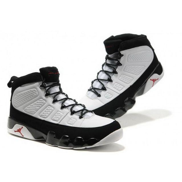 size 40 8b5aa f2e2f Mens Nike Air Jordan Retro 9 Big Size White Black Shoes