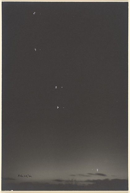 Charles Henry Breed (American, 1876–1950). [Sky with Planets], 1940. Gelatin silver print. The Metropolitan Museum of Art, New York. Gift of Jack T. Lubiner and Clare M. Lubiner, 1985 (1985.1142.1)   ©Jack T. Lubiner. #CosmicWonders #MetonPaper100