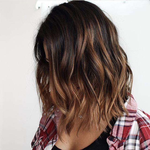 Length More Balayage Brunette Short Dark Hair Balayage