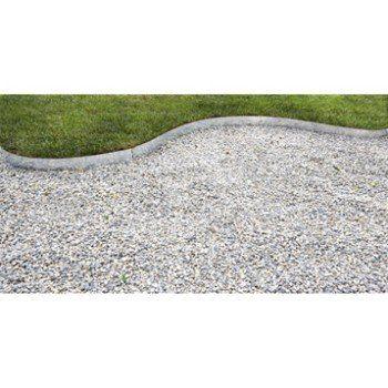 bordure à planter metal acier galvanisé gris, h.13 x l.118 cm