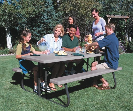 Lifetime Folding Picnic Table 22119 6 Ft Putty Color