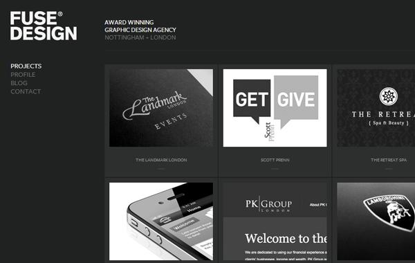 Dark Black Themed Website Layout Interface Web Design Web Design Agency Web Design Gallery
