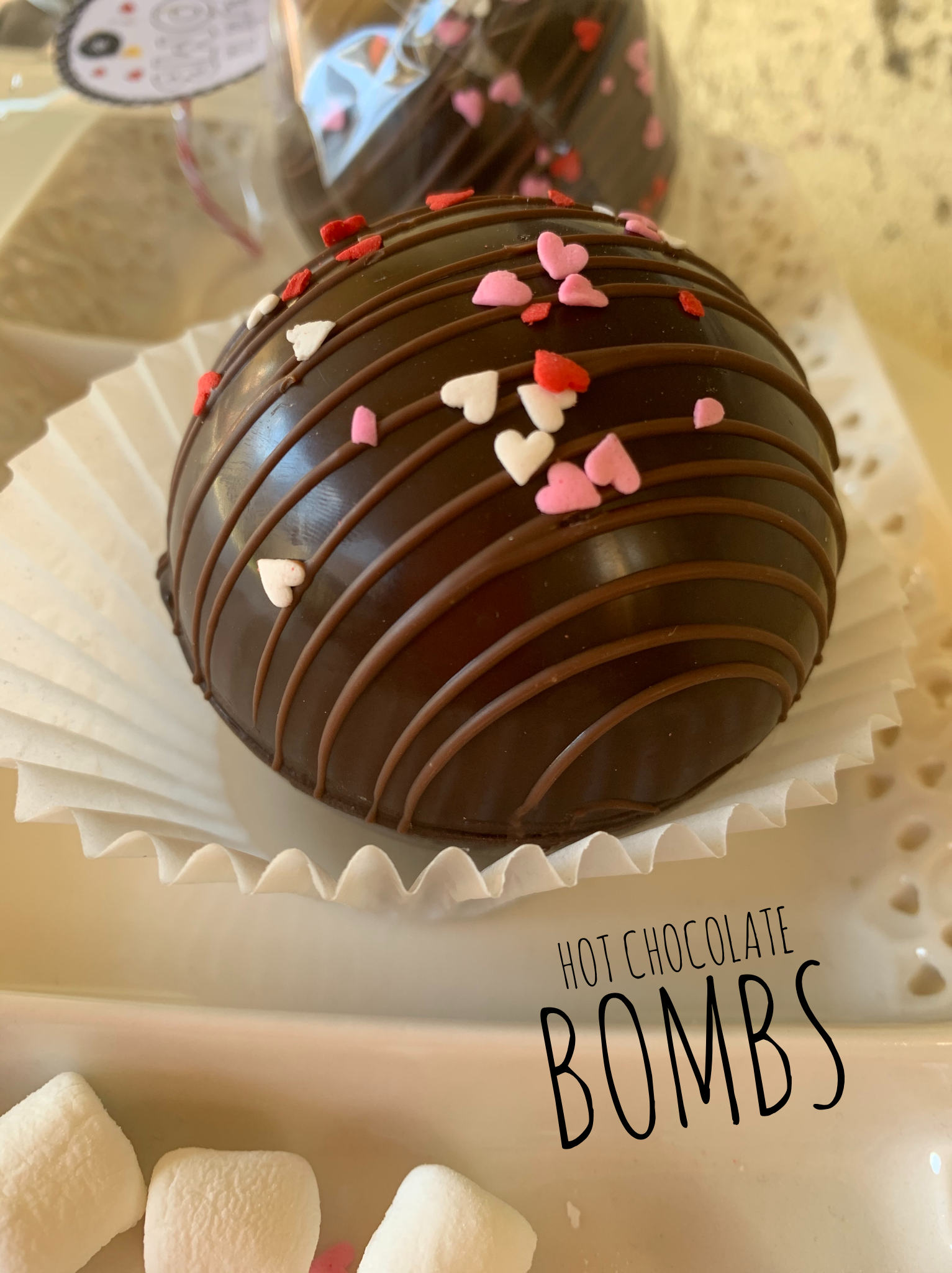 Hot chocolate Bombs (Valentine) in 2020 Chocolate bomb