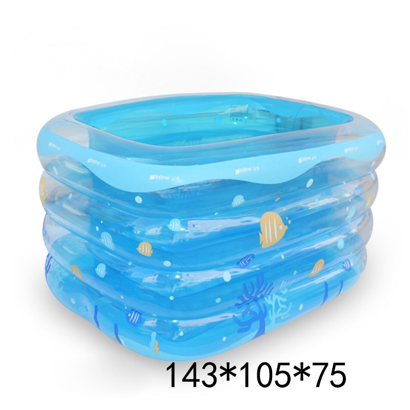 baby pool transparent inflatable swimming pool rectangular children inflatable pools blue green large plastic swimming pools