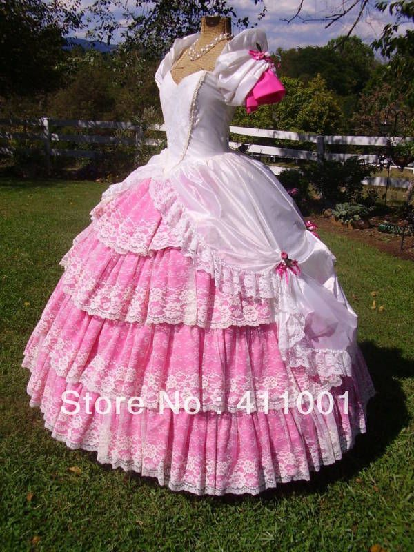443124ab150 Civil War Ball Gown Dress pink