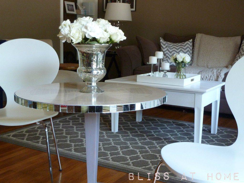 Diy mirrored table | Mirrored furniture, Diy mirrored ...