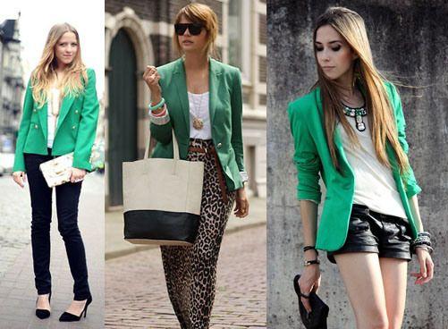 Mais blazer verde