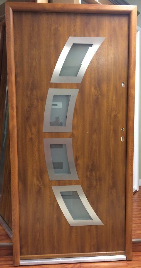 Miami Design Steel Exterior Door Is Available In Golden Oak Color