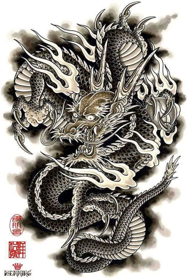 pin by t m knightz on dragon phoenix foodog pinterest dragons tattoo and irezumi. Black Bedroom Furniture Sets. Home Design Ideas