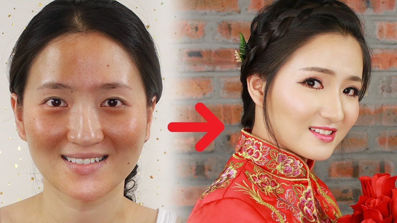 Makeup Transformation Before And After Chinese Wedding Makeup Hey