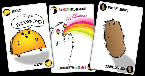 Exploding Kittens Cat Card Samples Exploding Kittens Potato Cat Taco Cat