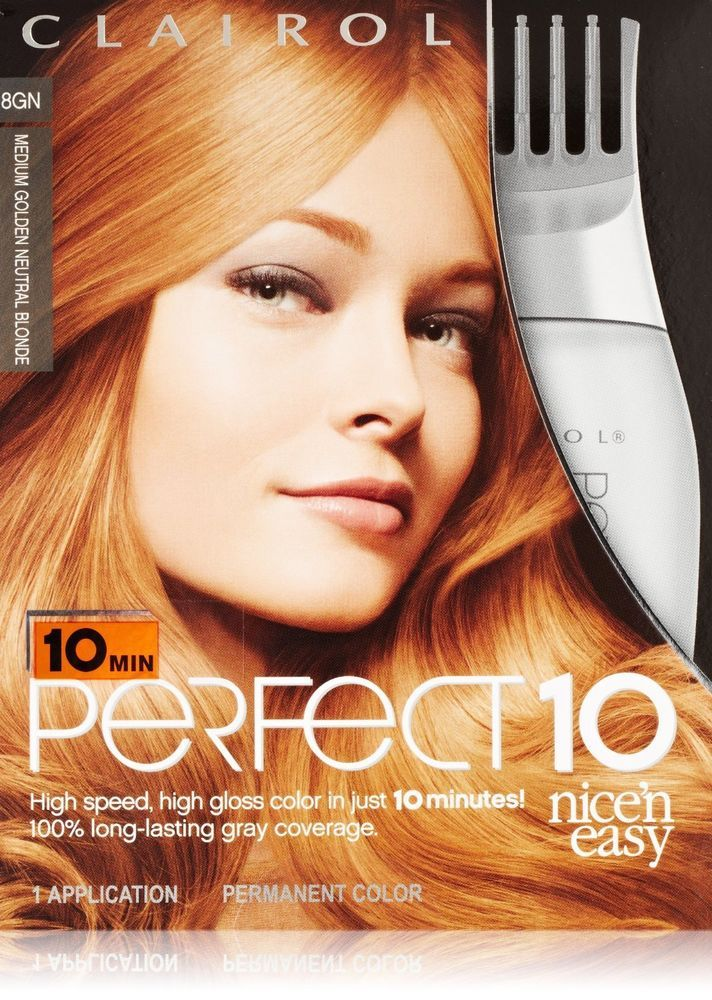 Clairol Nice N Easy Perfect 10 Hair Color 8gn Medium Golden Neutral Blonde