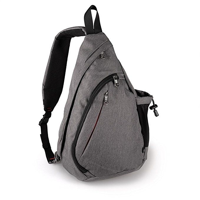 1fdc3d41e0 OutdoorMaster Sling Bag - Small Crossbody Backpack for Men   Women (Gray)